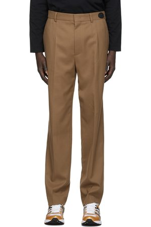 We11done Tan Slim-Fit Trousers