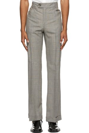Ernest W. Baker Grey & Houndstooth Flare Trousers