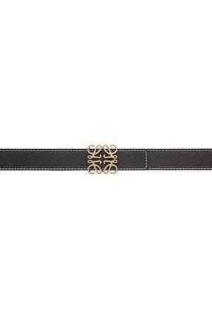 Loewe Black Contrast Stitch Anagram Belt