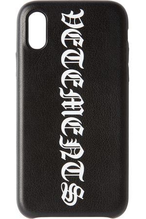 VETEMENTS Black Vertical Logo iPhone XS Case