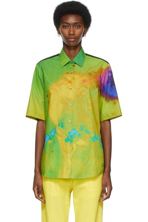 Women Short sleeves - Dries Van Noten Multicolor Len Lye Edition Graphic Short Sleeve Shirt