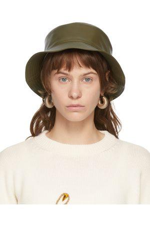 Women Hats - Loewe Khaki Leather Fisherman Hat
