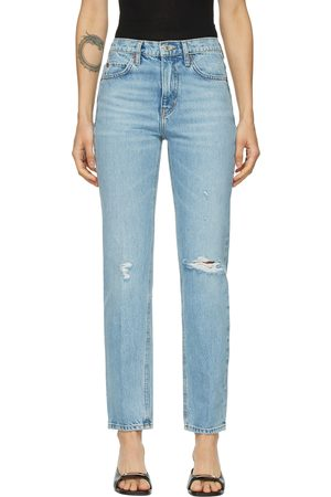 Re/Done Blue '70s Straight Rigid Jeans