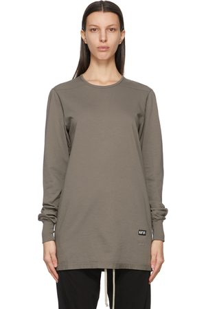 Rick Owens Drkshdw Taupe Level Long Sleeve T-Shirt
