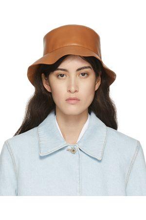 Women Hats - Loewe Tan Leather Fisherman Bucket Hat