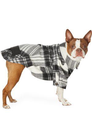 Parkas - We11done SSENSE Exclusive Grey Wool Check Anorak Shirt