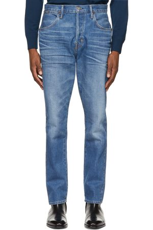 TOM FORD Blue Tapered Selvedge Jeans