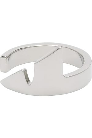 Fendi Silver Corner Bug Ring