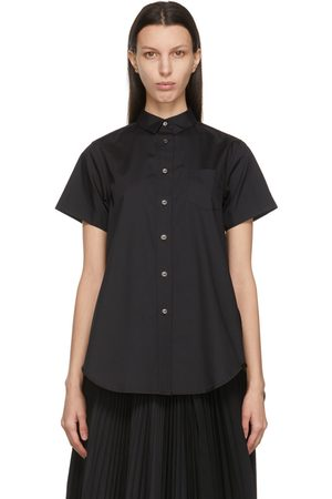 Women Short sleeves - Sacai Poplin Wide Short Sleeve Shirt