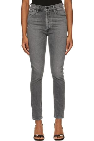 Goldsign Grey 'The High-Rise Slim' Jeans
