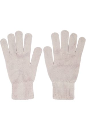 Men Gloves - John Elliott Beige Cashmere Tie-Dye Gloves