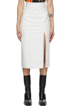 Meryll Rogge Leather Vintage Slit Skirt