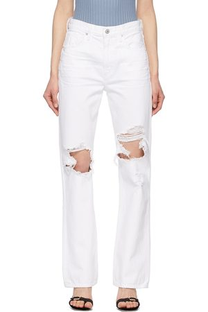 Women Bootcut & Flares - Citizens of Humanity White Libby Relaxed Bootcut Jeans