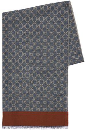 Gucci Men Scarves - Gg Jacquard Cotton Stole