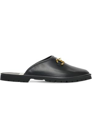 Gucci Horsebit Leather Slippers