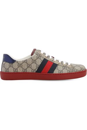 Gucci Men Sneakers - 25mm Ace Gg Supreme Fabric Sneakers