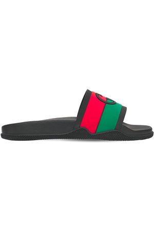 Gucci Interlocking G Rubber Slide Sandals