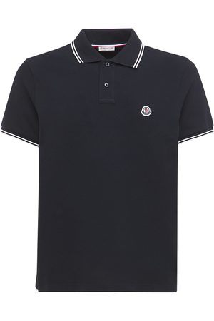 Moncler Men Polo Shirts - Cotton Piqué Polo Shirt