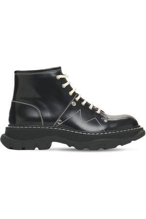 Alexander McQueen Women Boots - 40mm Tread Brushed Leather Combat Boots
