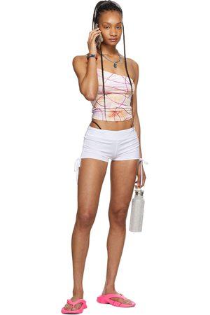 I'm Sorry by Petra Collins Women Tank Tops - SSENSE Exclusive Pink Velvet Tie-Dye Tank Top
