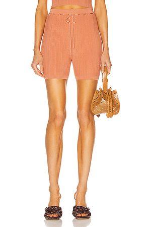 Cult Gaia Women Shorts - Vera Knit Short in Cantaloupe