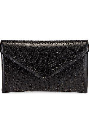 Alaïa Women Clutches - Oum 20 Leather Laser Cut Clutch in Noir