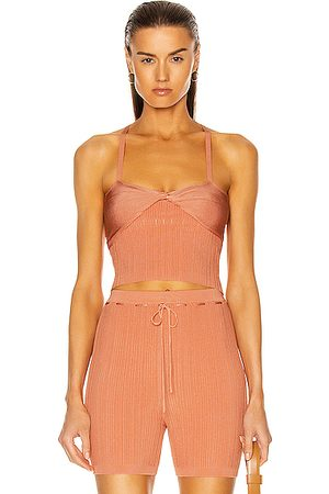 Cult Gaia Women Tops - Raegan Knit Top in Cantaloupe