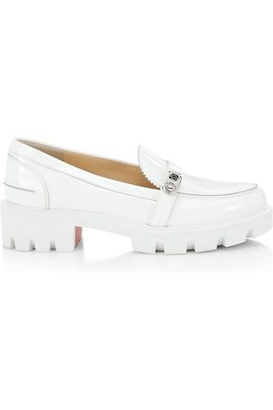 Christian Louboutin Loafers - Lock Lug-Sole Patent Leather Loafers