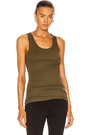 WARDROBE.NYC Ribbed Tank Top in Military