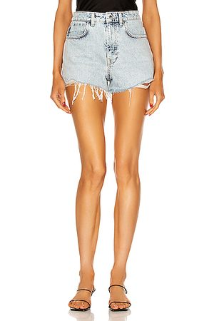 Alexander Wang High Waist Short in Pebble Bleach