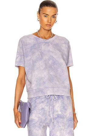 NILI LOTAN Ciara Sweatshirt in Light Lavender Tie Dye