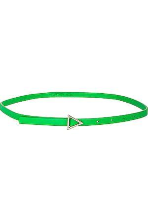 Bottega Veneta Leather Triangle Belt in Parakeet &