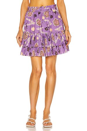 ULLA JOHNSON Women Mini Skirts - Leela Skirt in Zinnia