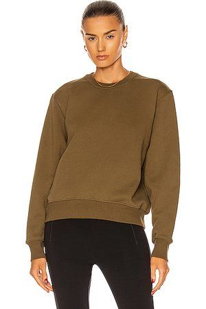 WARDROBE.NYC Women Sweatshirts - Track Sweatshirt in Military