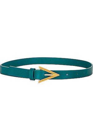 Bottega Veneta Women Belts - Leather Triangle Belt in Mallard &