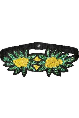 Diwaah Women Green & Yellow Embellished Belt