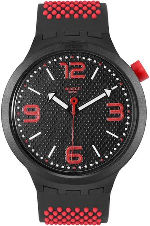 Swatch Unisex Black Swiss Made Analogue Watch SO27B102