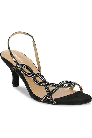 marie claire Women Black Embellished Sandals