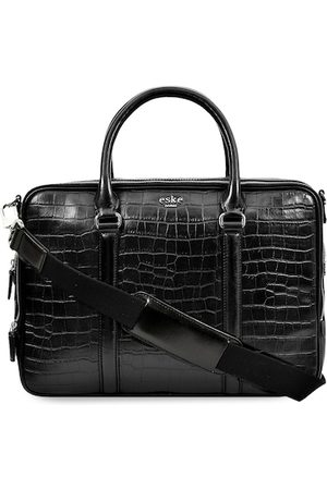 Eske Men Black Textured Laptop Bag