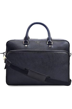 Eske Men Navy Blue Textured Laptop Bag