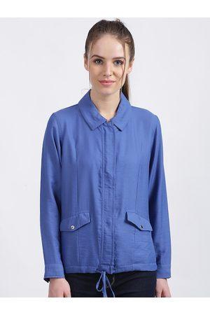 Zink London Women Jackets - Women Blue Solid Tailored Jacket