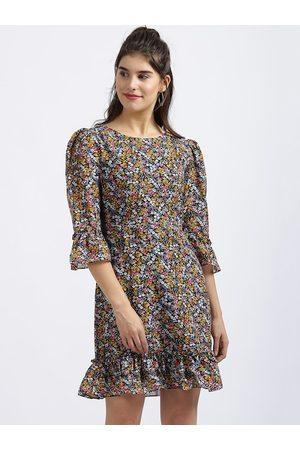 Zink London Women Multicoloured Printed A-Line Dress