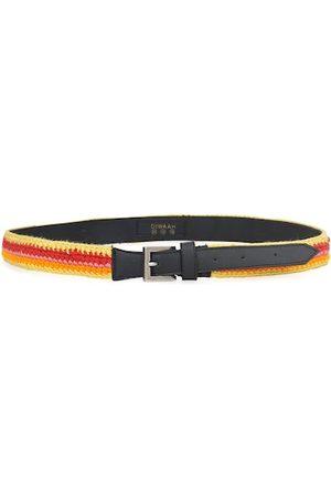 Diwaah Women Red & Beige Braided Belt