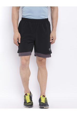 CHKOKKO Men Sports Shorts - Men Black Solid Regular Fit Training Sports Shorts