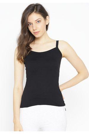Lady Lyka Women Vests - Women Black Solid Camisole 10396711