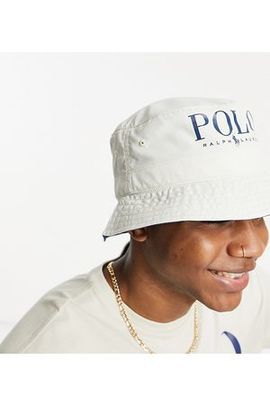 Polo Ralph Lauren X ASOS exclusive collab bucket hat in cream with text logo