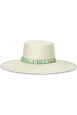 Artesano Exuma Hat in Ice & Square Tagua Beads