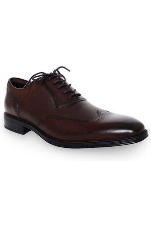 Kenneth Cole Men Formal Shoes - Men Brown Textured Leather Formal Derbys
