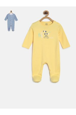 MINI KLUB Infant Girls Pack of 2 Sleepsuits