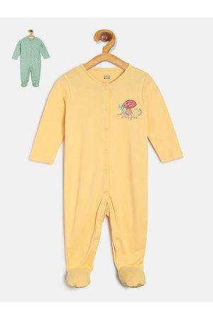 MINI KLUB Infant Girls Pack Of 2 Sleepsuit